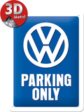 VW Parking Only Tin Sign