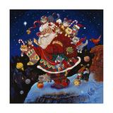 Voila le père Noël Reproduction procédé giclée par Bill Bell