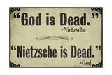 God is Dead Impressão giclée