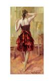 Girl in a Copper Dress 3 Giclee Print by Steve Henderson
