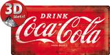 Coca-Cola Tin Sign - Logo Red Plaque en métal
