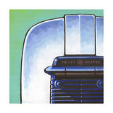 Galaxy Toaster - Green Giclee Print by Larry Hunter