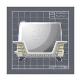 Galaxy Toaster - Pewter Giclee Print by Larry Hunter