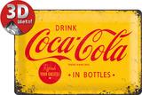 Coca-Cola Tin Sign - Logo Yellow Plaque en métal