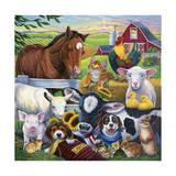 Farm Friends Reproduction procédé giclée par Jenny Newland