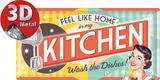 Køkken Blikskilt