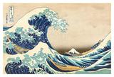 The Great Wave Off Kanagawa Plakater af Katsushika Hokusai