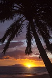 Sunset at Keawekapu Beach, Wailea, Maui, Hawaii Reproduction photographique par Ron Dahlquist
