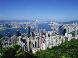Skyline of Hong Kong Seen from Victoria Peak, China Photographic Print by Dallas and John Heaton