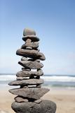 Stack of Rocks at Canteria Beach, near Orzola, Lanzarote, Spain Impressão fotográfica por Guido Cozzi