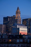 Boston Skyline at Sunset Features Commerce House Tower, Boston, Ma. Photographic Print by Joseph Sohm