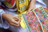 Girl Weaving Nax, China Photographic Print by Dallas and John Heaton