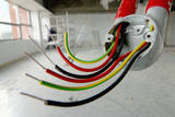 Electrical Wiring in Refurbished Warehouse Photographic Print by Chris Henderson
