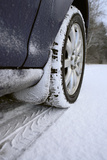 Car on Rural Road in Winter Photographic Print by Chris Henderson