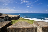 Fortress and Sea, Old San Juan, Puerto Rico Reproduction photographique par Massimo Borchi