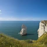 View of the Aiguille Cliff , High Normandy , France Reproduction photographique par Massimo Borchi