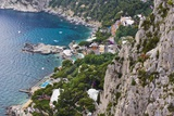 Marina Piccola and Coast from Giardini Di Augusto, Capri, Capri Island, Campania, Italy Reproduction photographique par Massimo Borchi