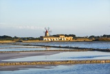 Windmill and Saltworks, Marsala, Sicily, Italy Reproduction photographique par Massimo Borchi