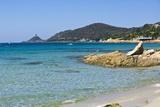 Beach near Town, Ajaccio, Corsica, France Reproduction photographique par Massimo Borchi