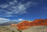 Eroded Landscape in Red Rock Canyon Fotografie-Druck von Frank Krahmer