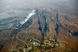 Aerial of Victoria Falls Fotografisk tryk af Michele Westmorland