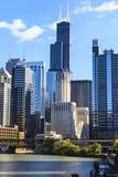 Chicago Cityscape Fotografisk tryk af Fraser Hall