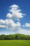 Agricultural Landscape and Cumulonimbus Clouds Fotografie-Druck von Frank Krahmer
