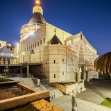 View of the Basilica of the Annunciation at Twilight Reproduction photographique par Massimo Borchi
