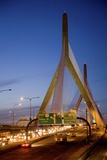 The Leonard P. Zakim Bunker Hill Bridge at Dusk Photographic Print by Joseph Sohm
