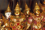Gold Puppets, Chiang Mai Province, Thailand Photographic Print by Dallas and John Heaton