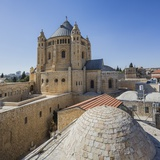 Mount Zion, View of the Abbey of the Dormition (Or Abbey of Hagia Maria Sion) Reproduction photographique par Massimo Borchi