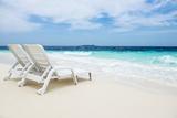 Idyllic Beach Scene in the Maldives Photographic Print by John Harper