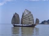 Chinese Junk, South China Sea, China Photographic Print by Dallas and John Heaton