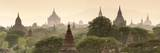 Temples and Stupas at Dawn Sunrise in the Archaeological Site, Bagan (Pagan), Myanmar (Burma) Reproduction photographique par Stephen Studd
