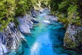 The Stunning Blue Pools, Haast Pass, South Island, New Zealand, Pacific Fotografisk trykk av Michael Runkel