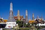 View of Wat Phra Kaeo, Grand Palace, Bangkok, Thailand Photographic Print by Dallas and John Heaton