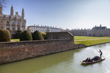 A View of Kings College from the Backs with Punting in the Foreground, Cambridge, Cambridgeshire Photographic Print by Charlie Harding