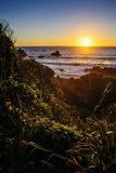Sunset at Cape Foulwind Near Westport, West Coast, South Island, New Zealand, Pacific Fotografisk tryk af Michael Runkel