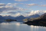 Lake Wakatipu Looking to Glenorchy and Mount Earnslaw, Glenorchy, Otago Fotografie-Druck von Stuart Black