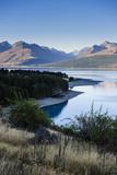 Lake Pukaki, Mount Cook National Park, South Island, New Zealand, Pacific Fotografisk trykk av Michael Runkel