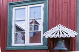 Brightly Painted House Reflected in Window in Sisimiut, Greenland, Polar Regions Photographic Print by Michael Nolan