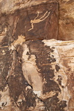 Falling Man Petroglyph, Gold Butte, Nevada, United States of America, North America Photographic Print by James Hager