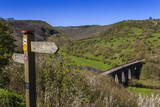 Monsal Head Viaduct and Footpath Sign in Spring, Peak District National Park, Derbyshire, England Photographic Print by Eleanor Scriven