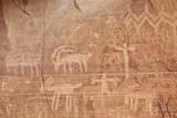 Bighorn Sheep, Human, and Geometric Petroglyphs, Gold Butte, Nevada, Usa Lámina fotográfica por James Hager