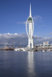 Spinnaker Tower, Gunwharf Quays, Portsmouth Harbour and Dockyard, Portsmouth, Hampshire, England Reproduction photographique par Jean Brooks