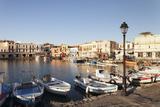 Old Venetian Harbour, Rethymno (Rethymnon), Crete, Greek Islands, Greece, Europe Fotografisk tryk af Markus Lange