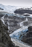 Blue Ice of Kjenndalen Glacier, Jostedalsbreen National Park, Lodal Valley Photographic Print by Eleanor Scriven