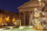 Piazza Della Rotonda and the Pantheon, Rome, Lazio, Italy, Europe Photographic Print by Julian Elliott