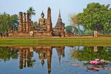 Wat Mahatat, Sukhothai Historical Park, Sukhothai, Thailand, Southeast Asia, Asia Toile tendue sur châssis par Tuul