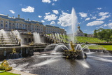 The Grand Cascade of Peterhof, Peter the Great's Palace, St. Petersburg, Russia, Europe Photographic Print by Michael Nolan